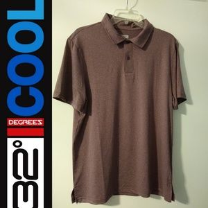 NWOT 32 Degrees Cool men's polo shirt
